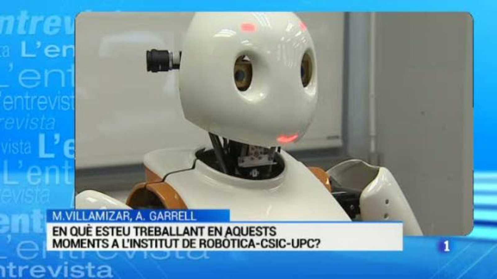 L'Entrevista de l'Informatiu Cap de Setmana: el futur de la intel·ligència artificial amb Anais Garrell i Michel Villamizar, doctors en robòtica
