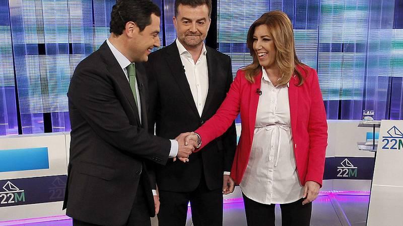 Los candidatos a presidir la Junta de Andalucía se enzarzan a cuenta de la corrupción