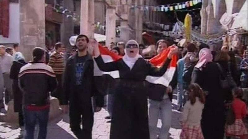 TVE grabó la primera protesta en Siria contra el régimen de Al Asad