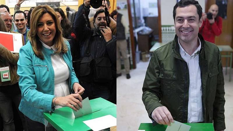 Los candidatos a las andaluzas depositan su voto