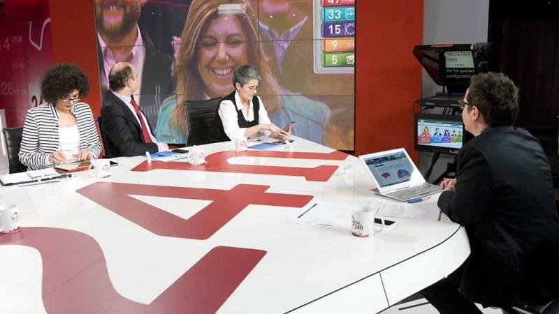La noche en 24 horas - Especial elecciones Andalucía 2015 - 22/03/15 - Ver ahora