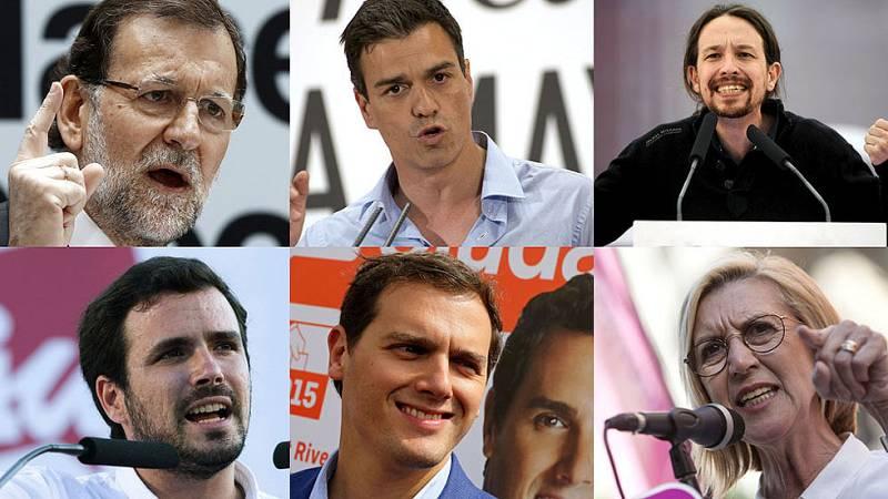 Los partidos políticos han elegido la capital de España para su cierre de campaña