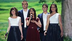 "Eurovisión 2015 - Hungría: Boggie canta ""Wars for nothing"""