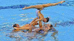 El equipo español de la sincro logra la plata en los Juegos de Bakú