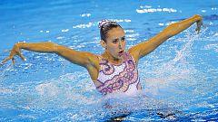 Berta Ferreras, plata con su ejercicio de solo de sincronizada