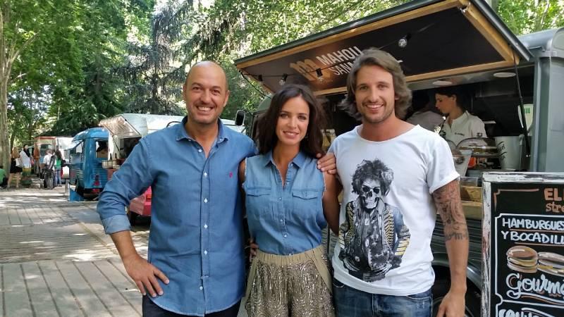 Cocineros al volante - Paula Prendes, Álex Alcántara e Íñigo Pérez 'Urrechu' pasan el día entre 'food trucks' en MadrEAT