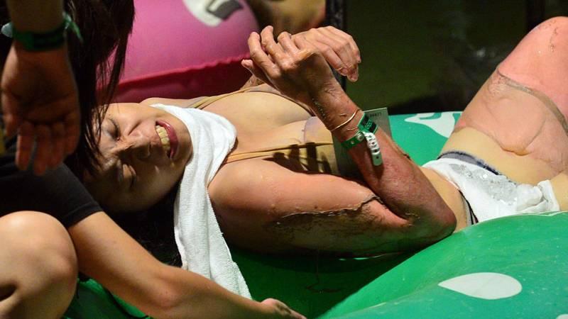 Más de 500 heridos en una fiesta en un parque acuático en Taiwán