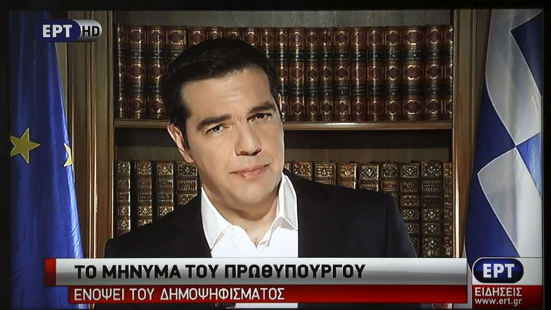 Tsipras vuelve a defender el 'no' en el referéndum en un mensaje televisado