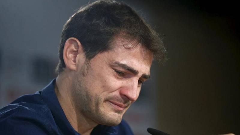 Casillas se despide entre lágrimas del Madrid