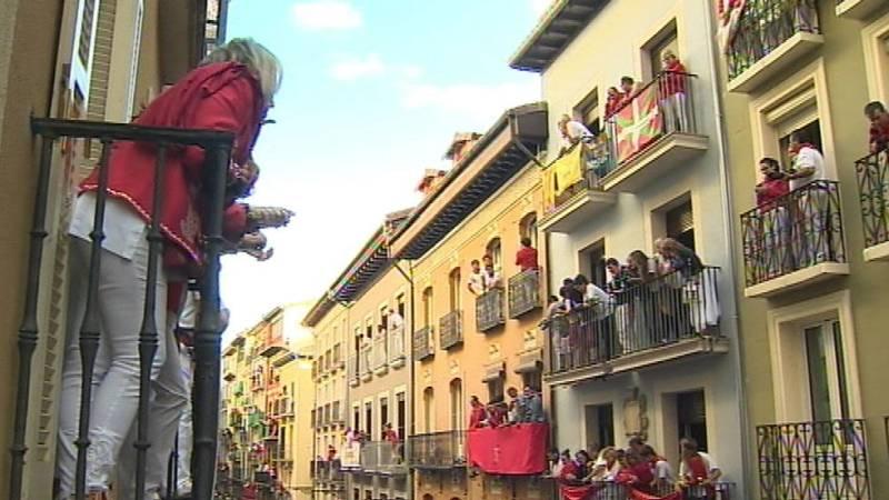 Los balcones de Pamplona, el 'otro' negocio de los Sanfermines