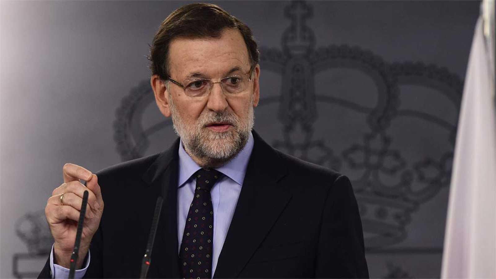 """Rajoy: """"No va a haber independencia en Cataluña y no se va a ir de Europa"""""""