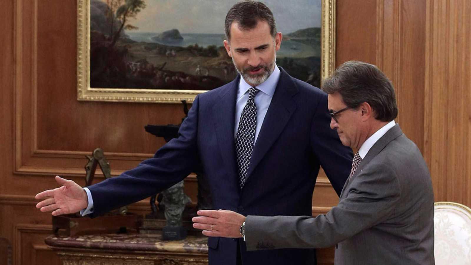 El Rey se reúne con Artur Mas, tras conocerse la lista del 27-s