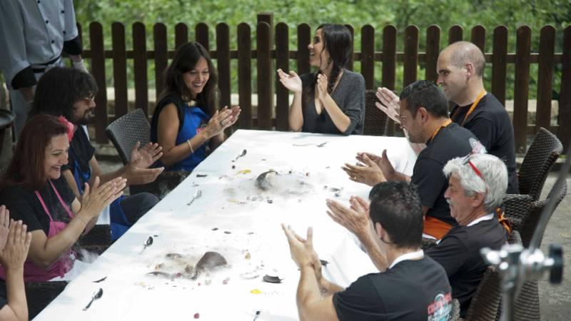 Cocineros al Volante - Los aspirantes, boquiabiertos tras el 'disfrute' en el restaurante Callizo