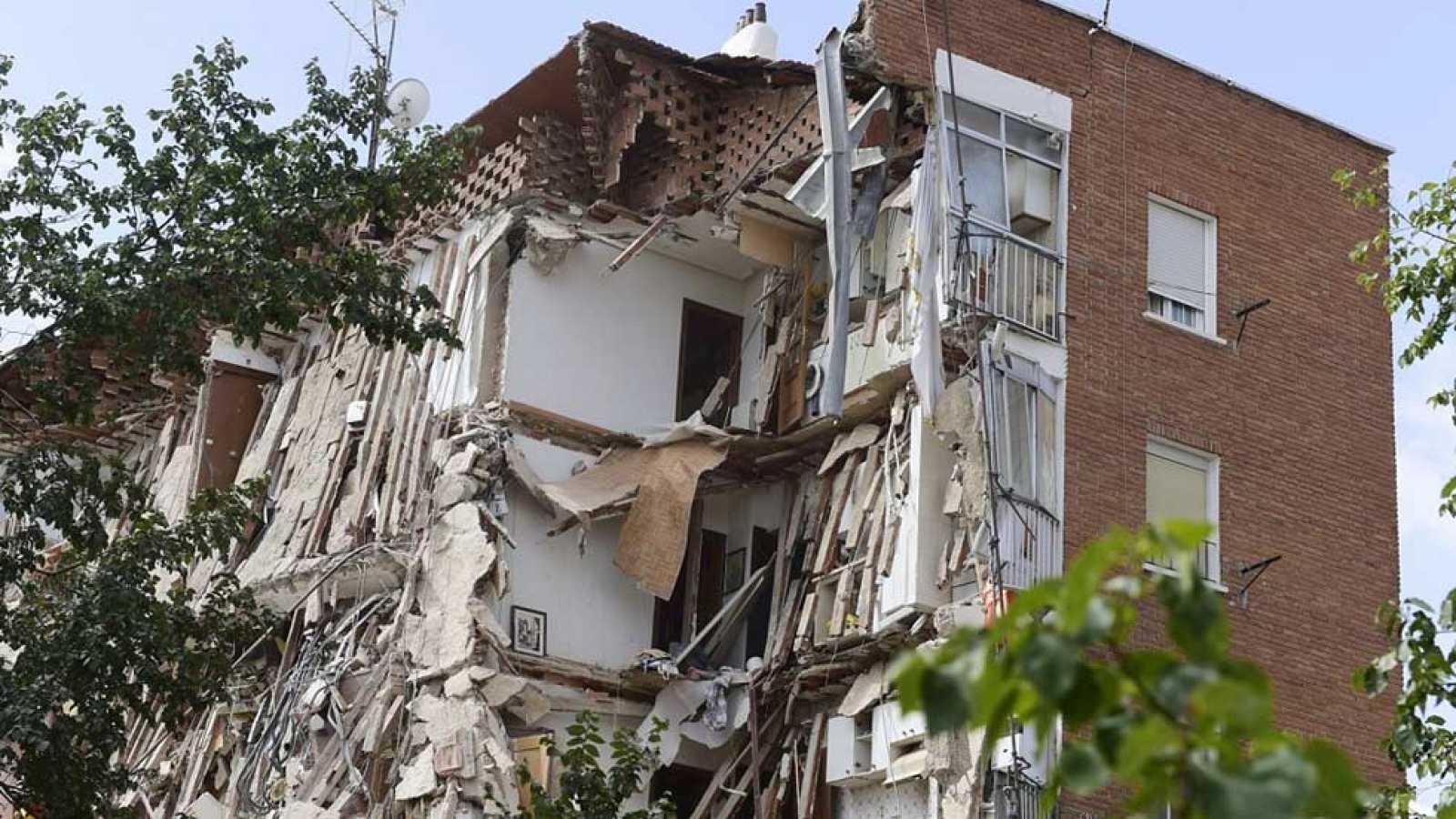 Derrumbe de un bloque de viviendas sin víctimas en Carabanchel