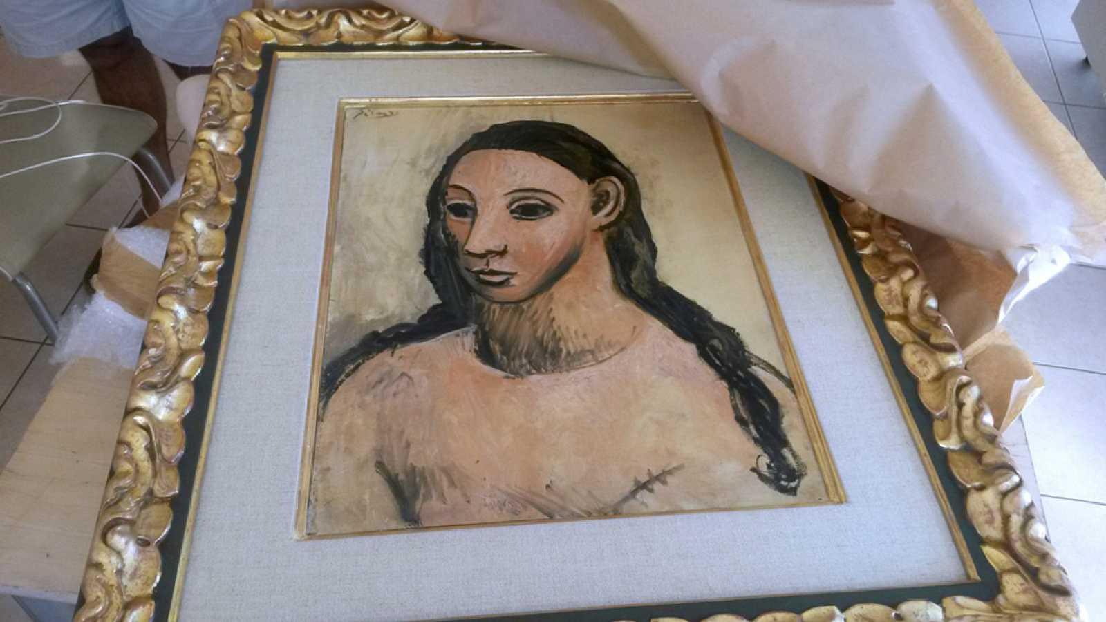 La obra de Picasso 'Cabeza de mujer joven' ya está en Madrid