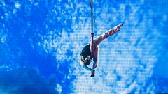 Insuperables - Diego Arias sobrevuela el plató con sus acrobacias