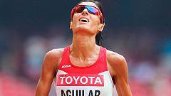 Sandra Aguilar, decimoséptima, a 25 segundos de la plaza olímpica