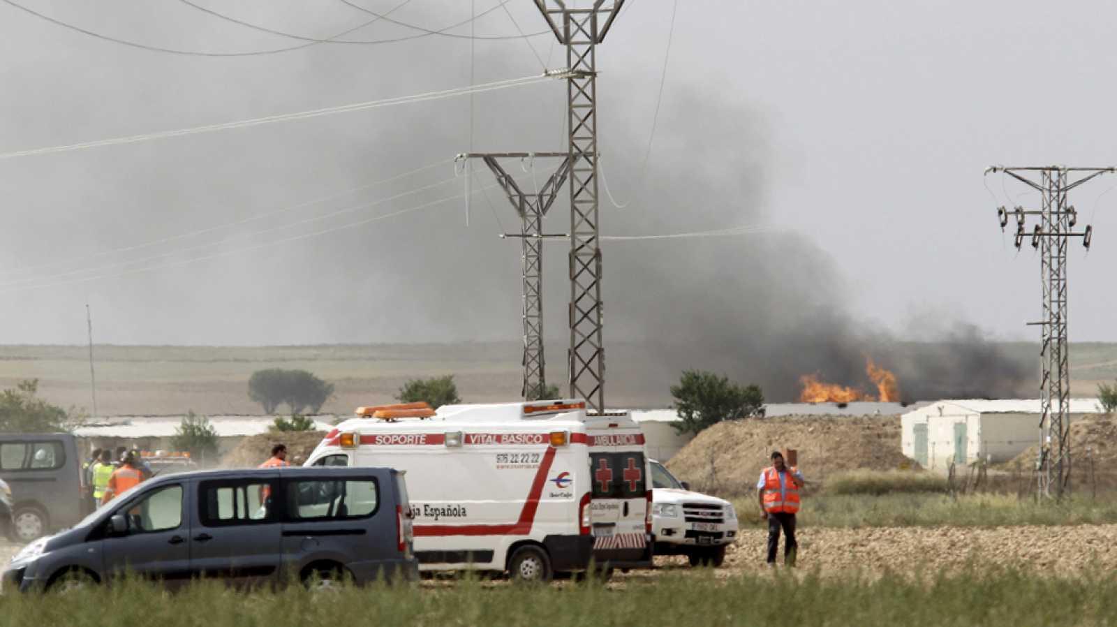 Cinco muertos y dos heridos graves en la explosión de una pirotecnia en Zaragoza