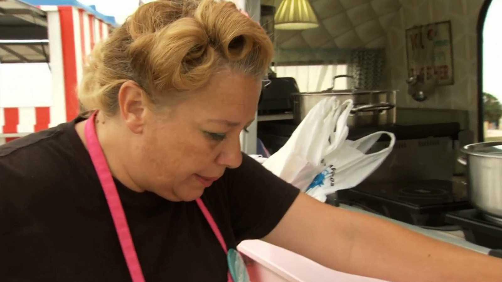 Cocineros al Volante - Cristina sufre un ataque de asma en 'La carrera de ingredientes'