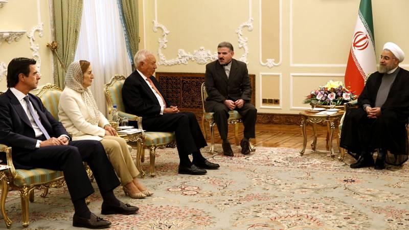 El presidente de Irán recibe a los ministros de Exteriores, Industria y Fomento de España