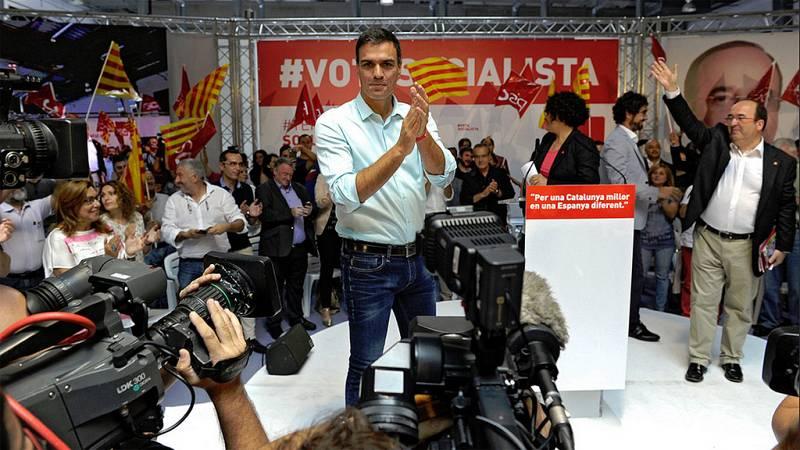 """Pedro Sánchez: """"Vamos a decirle a Mas que Cataluña es de todos los catalanes"""""""