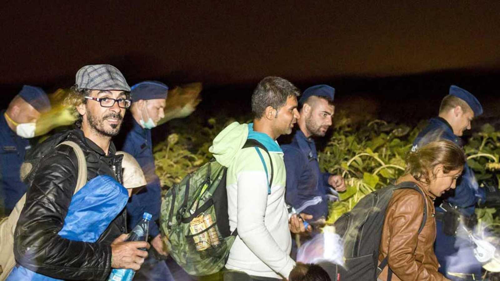 Récord de llegada de refugiados a Hungría