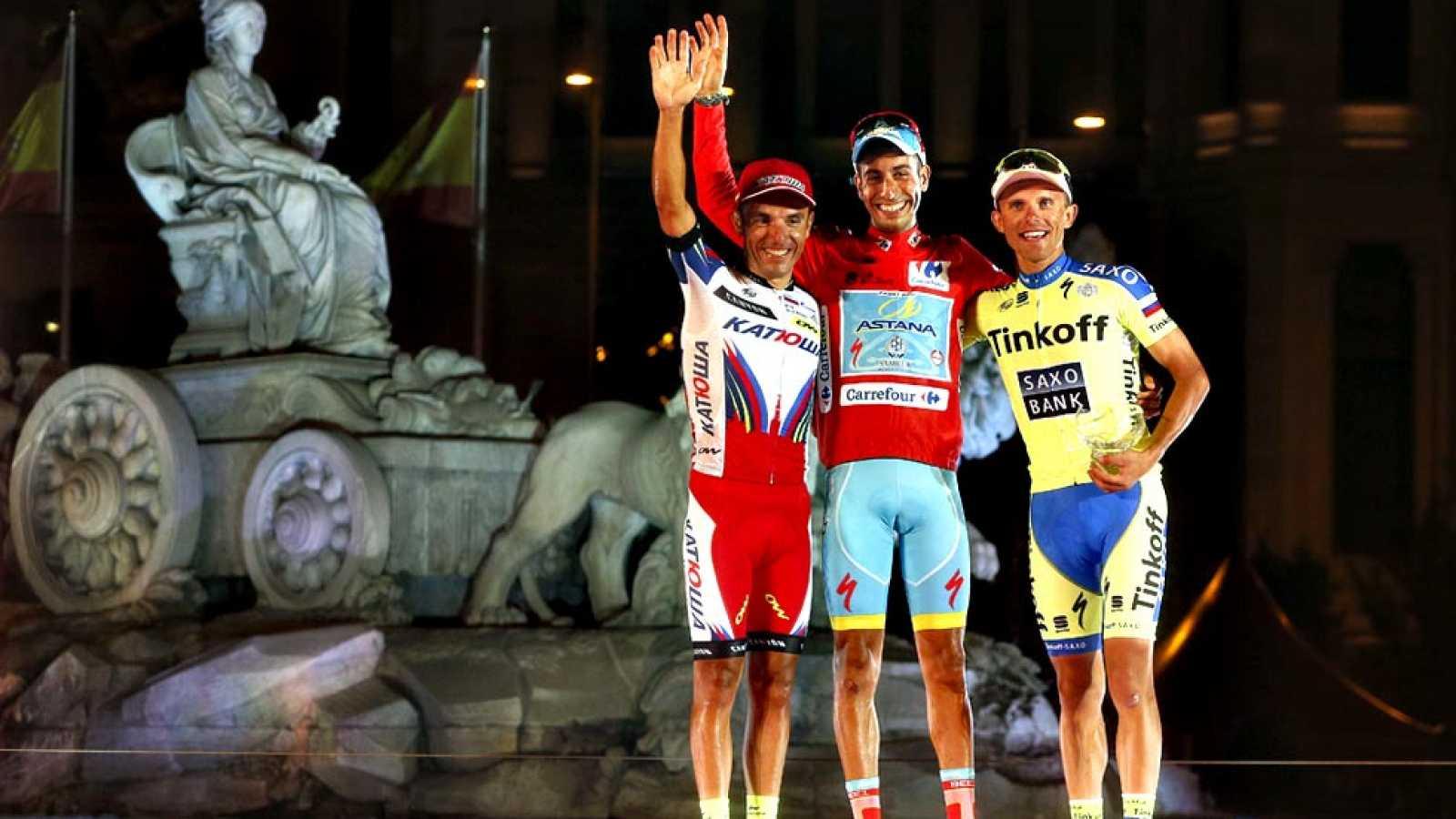 El ciclista italiano de Astana se proclamará este domingo campeón de la Vuelta 2015, gracias a un homenaje indirecto a Perico en La Morcuera, donde arrebató el maillot rojo a Dumoulin y escribió el mejor final para una Vuelta que no empezó nada bien