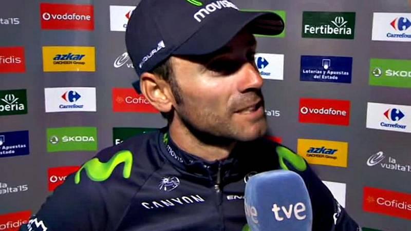 """El murciano del Movistar ha reconocido que en esta Vuelta 2015 ha tenido """"días mejores y días peores"""" pero espera que en dos semanas recupere la forma para los Mundiales de Richmond."""