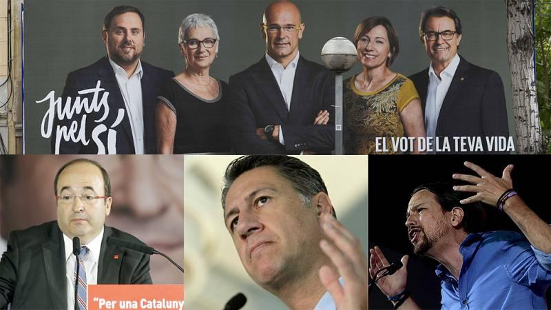 Elecciones catalanas: Unos candidatos piden independencia, otros hacerle frente y otros hablar de temas diferentes
