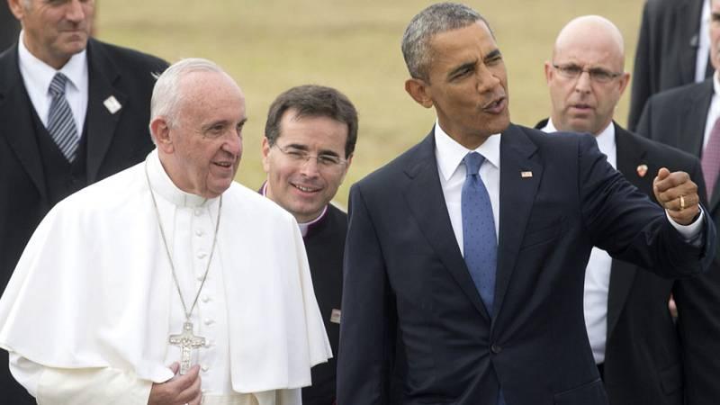 El Papa Francisco se reúne con Obama y canonizará a un fraile español