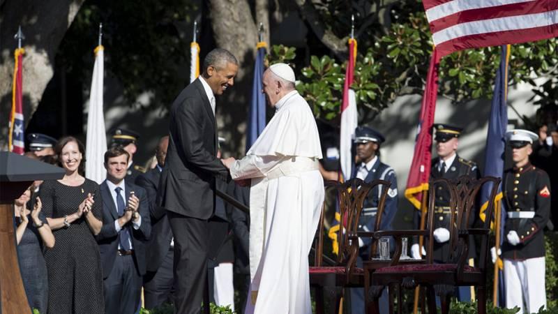 """El papa Francisco, """"hijo de inmigrantes"""", incide desde Washington en el debate migratorio y en el medio ambiente"""