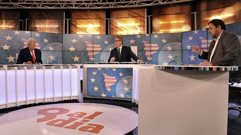 """Margallo defiende las ventajas de una Cataluña en España ante un Junqueras que reniega de """"profecías apocalípticas"""""""