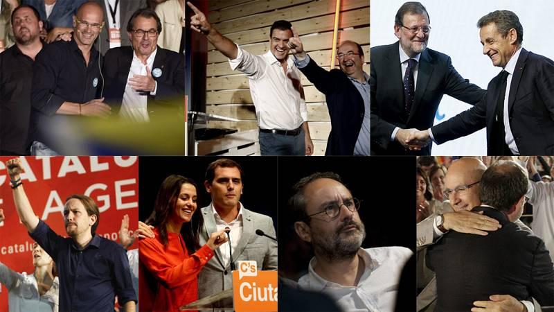 Los partidos catalanes cierran la campaña electoral del 27S