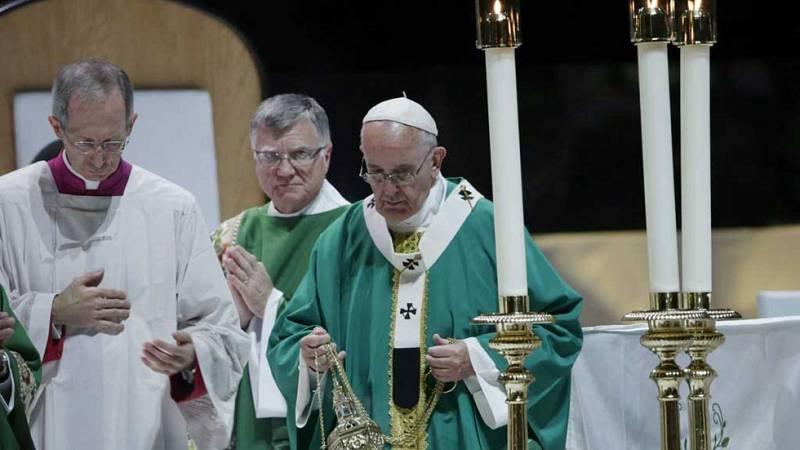 Multitudinaria misa del Papa en Nueva York