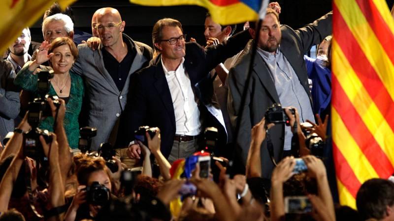 Los independentistas de Junts pel Sí y la CUP suman la mayoría absoluta de escaños pero no de votos