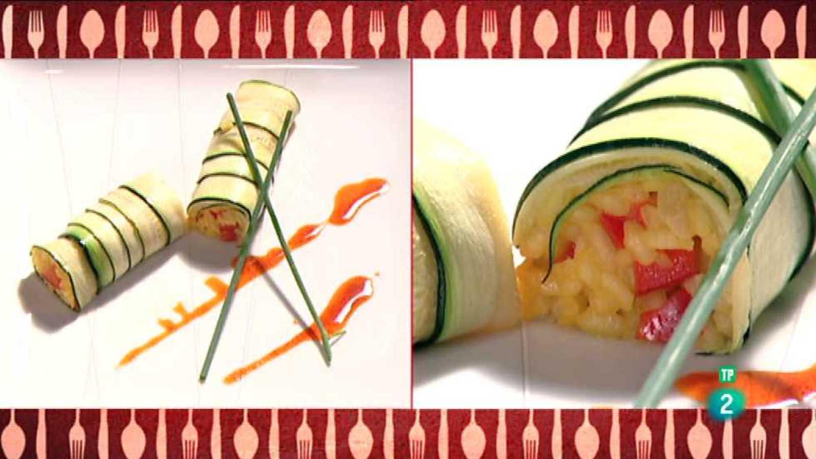 Cocina con Sergio - Rulo de calabacín relleno de arroz con verduras - Ver ahora