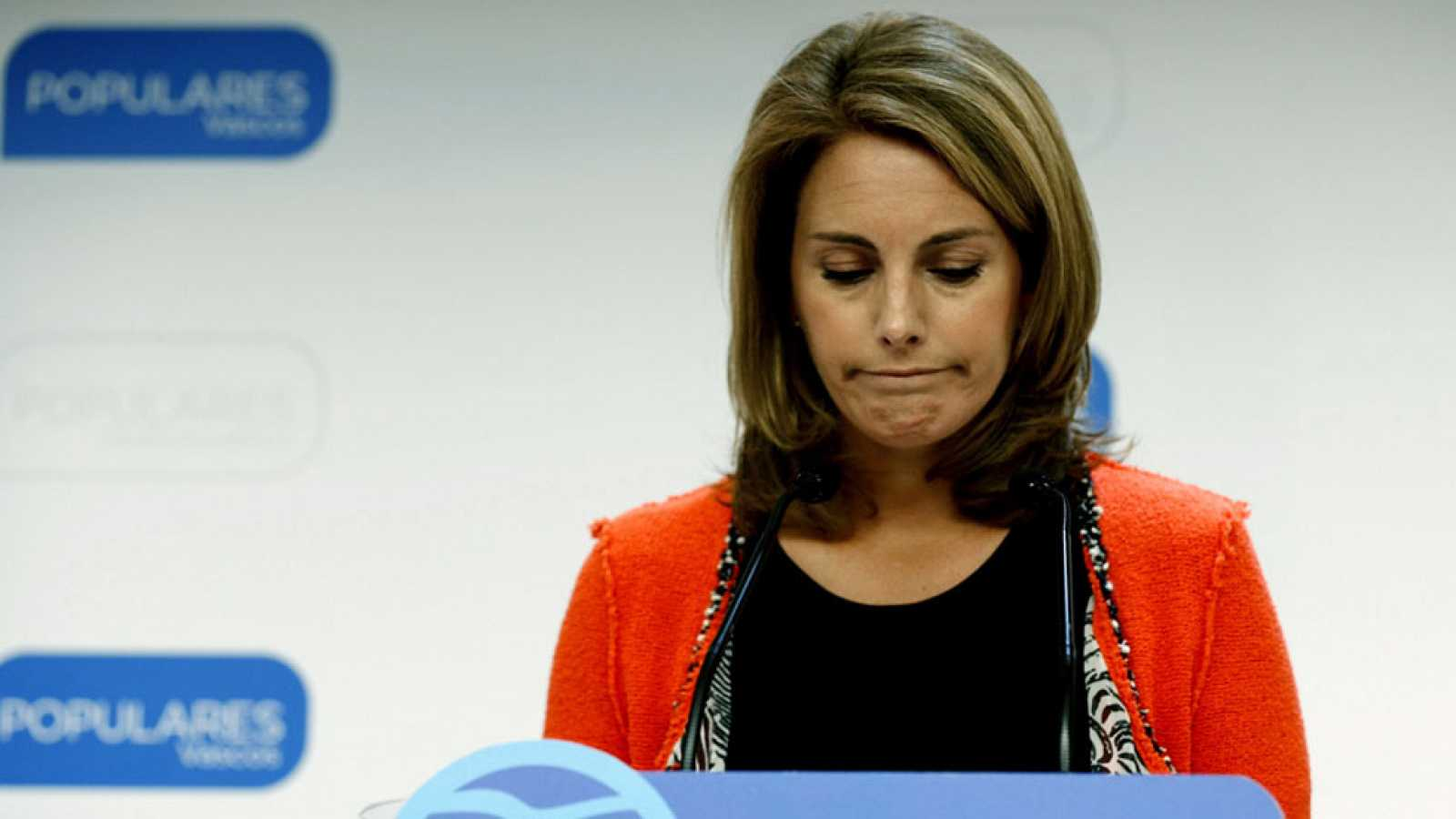 "Arantza Quiroga dimite como presidenta del PP vasco tras ""fracasar"" su moción sobre convivencia"