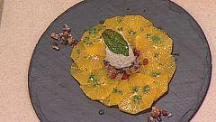 Cocina con Sergio - Ensalada de naranjas y sepia a la albahaca