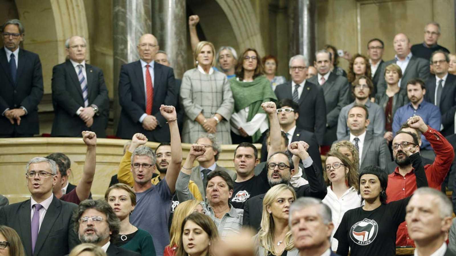 Junts Pel Sí y la CUP pactan una resolución para romper con España