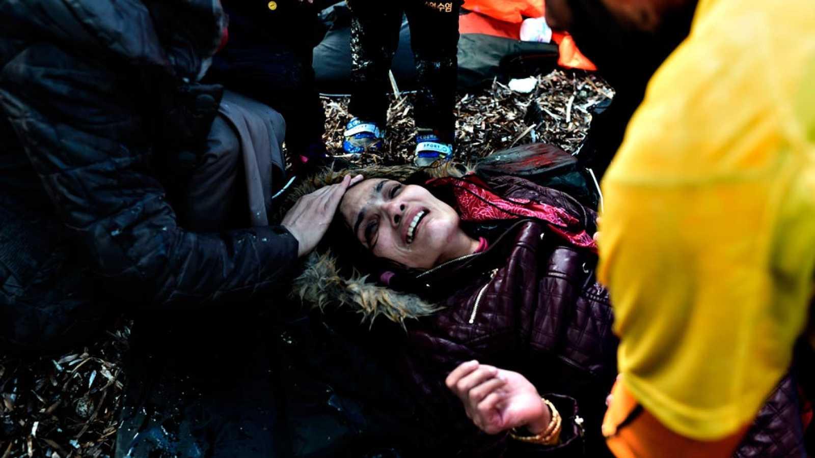 Los equipos de rescate siguen buscando supervivientes del último naufragio en Lesbos