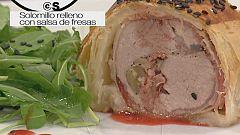 Cocina con Sergio - Solomillo relleno hojaldrado con salsa de fresas