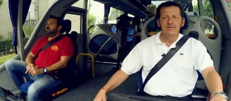 'Seguridad Vital' - Nuestro presentador, en autobús por carretera y ciudad
