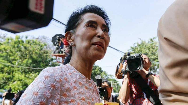 El partido de Aung San Suu Kyi asegura haber ganado las elecciones en Birmania