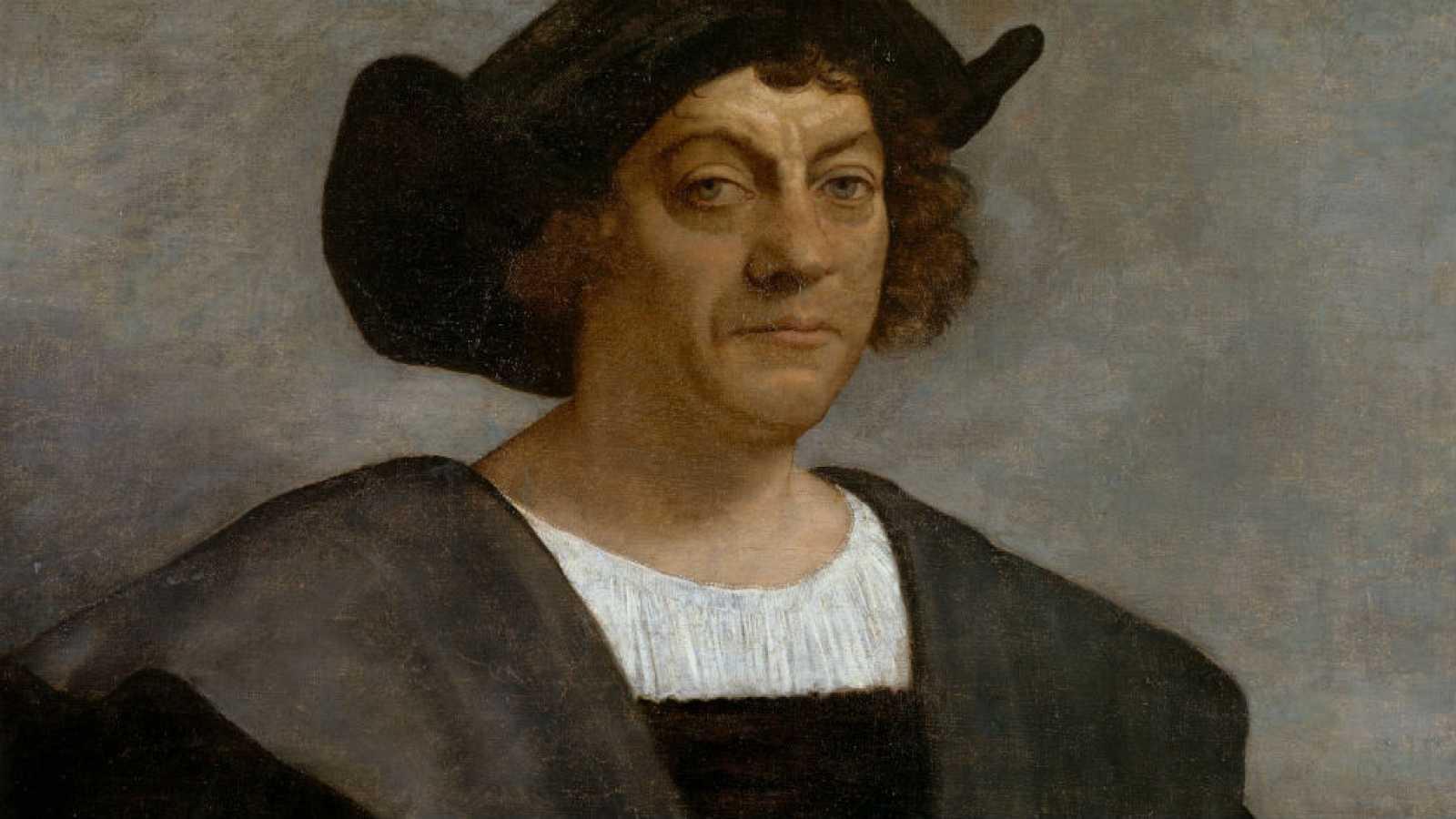 Paisaje con figuras - Cristobal Colón
