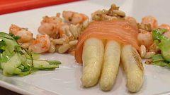 Cocina con Sergio - Espárragos a la vinagreta de cominos