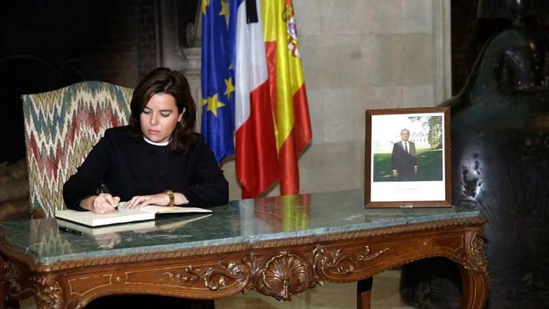 La vicepresidenta del Gobierno, Soraya Saénz de Santamaría, confirma la muerte de Juan Alberto González Garrido en los atentados de París.