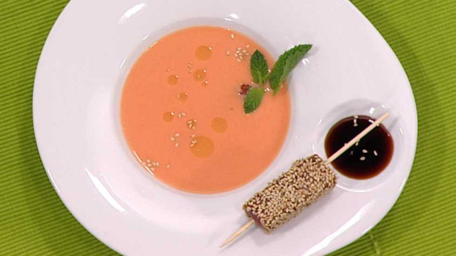 Cocina con Sergio - Gazpacho de fresón con atún - ver ahora