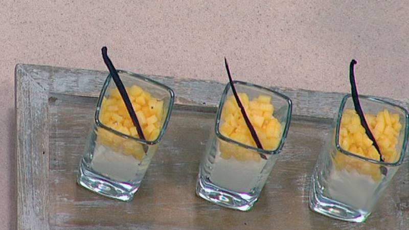 Cóctel de mango y nata