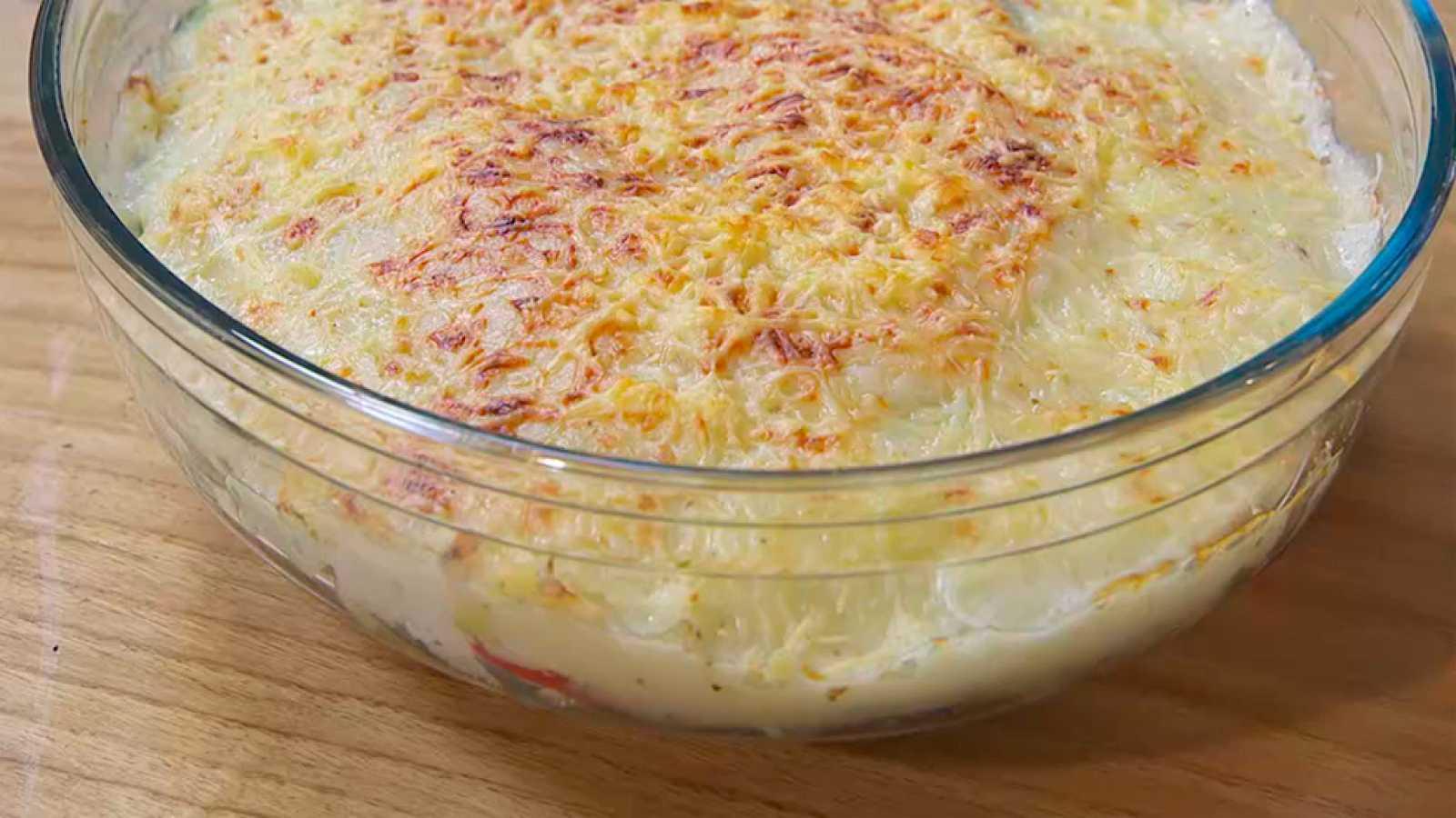 Receta de gratén de verduras sin lactosa