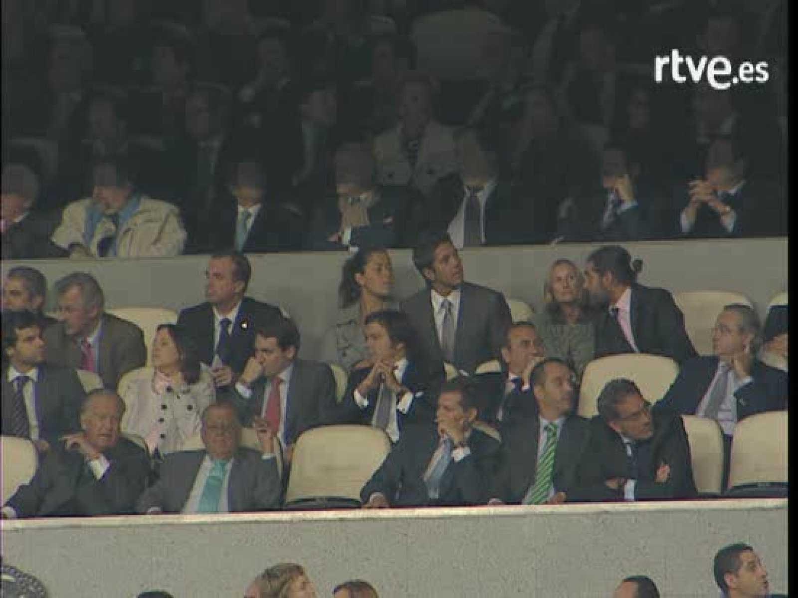 Verdasco e Ivanovic en el Bernabeu